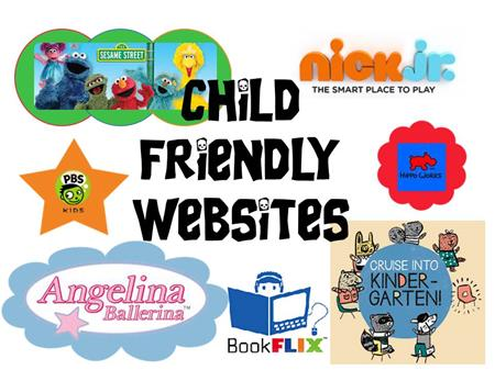 Child Friendly websites link button